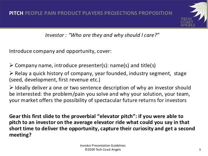 TechCoastAngels 7 Ps Of Investor Presentations