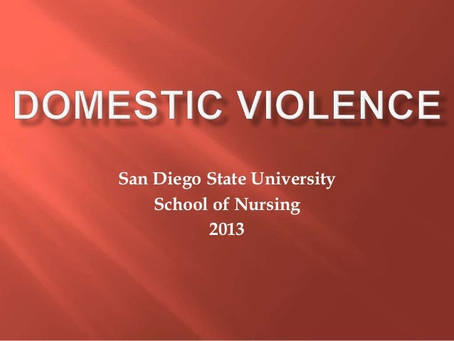 San Diego State University    School of Nursing          2013