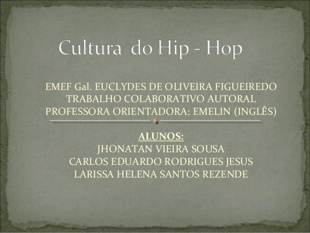 EMEF Gal. EUCLYDES DE OLIVEIRA FIGUEIREDO  TRABALHO COLABORATIVO AUTORAL  PROFESSORA ORIENTADORA: EMELIN (INGLÊS)  ALUNOS:...