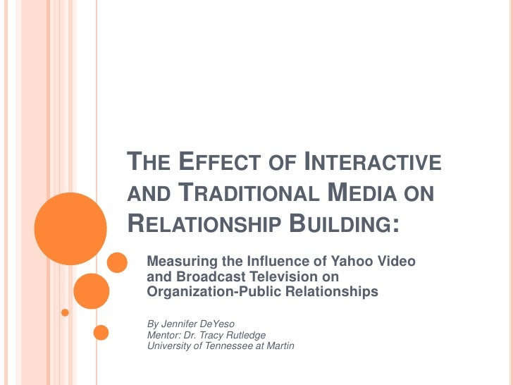 THE EFFECT OF INTERACTIVEAND TRADITIONAL MEDIA ONRELATIONSHIP BUILDING: Measuring the Influence of Yahoo Video and Broadca...