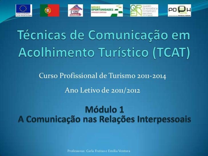 Curso Profissional de Turismo 2011-2014       Ano Letivo de 2011/2012        Professoras: Carla Freitas e Emília Ventura