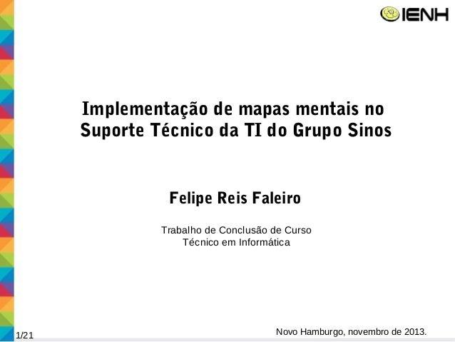 Implementação de mapas mentais no Suporte Técnico da TI do Grupo Sinos Felipe Reis Faleiro Trabalho de Conclusão de Curso ...