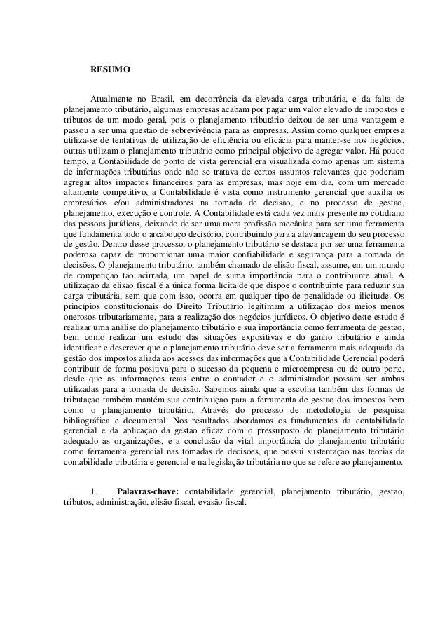Artigo cientifico de pos graduacao