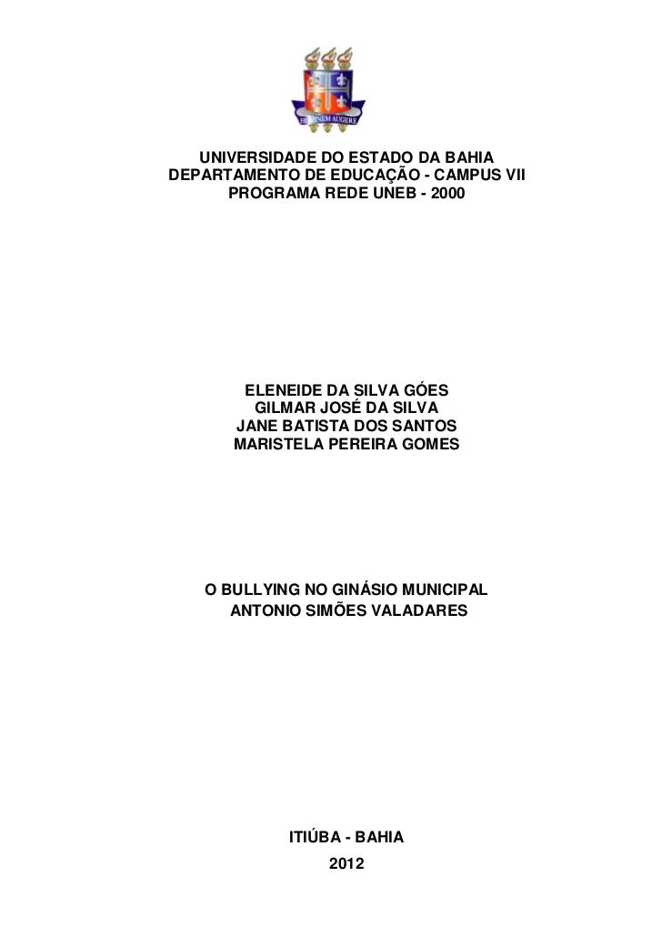 UNIVERSIDADE DO ESTADO DA BAHIADEPARTAMENTO DE EDUCAÇÃO - CAMPUS VII      PROGRAMA REDE UNEB - 2000       ELENEIDE DA SILV...