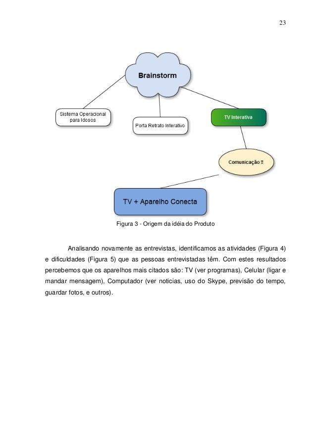 23  Figura 3 - Origem da idéia do Produto  Analisando novamente as entrevistas, identificamos as atividades (Figura 4) e d...