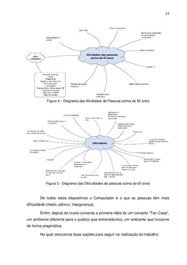 24  Figura 4 – Diagrama das Atividades de Pessoas acima de 50 anos  Figura 5 - Diagrama das Dificuldades de pessoas acima ...