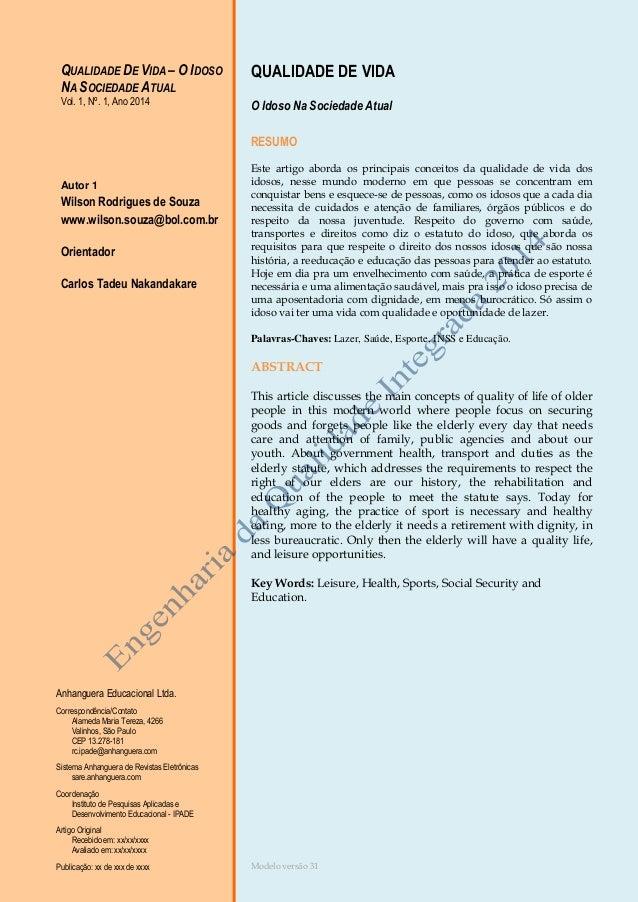 Modelo versão 31 Anhanguera Educacional Ltda. Correspondência/Contato Alameda Maria Tereza, 4266 Valinhos, São Paulo CEP 1...