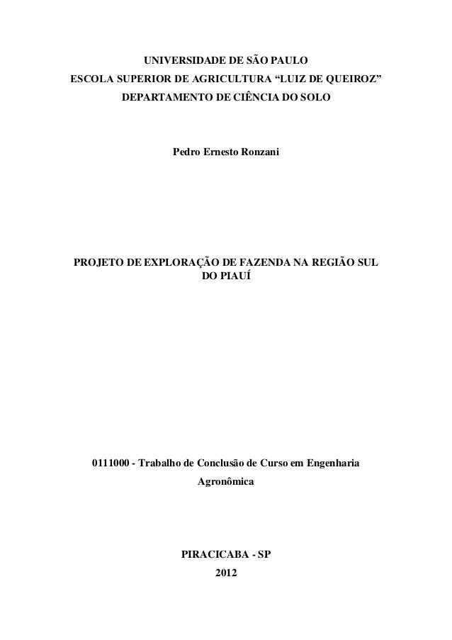 """UNIVERSIDADE DE SÃO PAULOESCOLA SUPERIOR DE AGRICULTURA """"LUIZ DE QUEIROZ""""        DEPARTAMENTO DE CIÊNCIA DO SOLO          ..."""