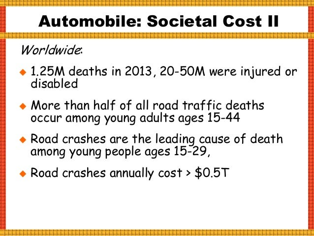Human error accounts for more than 90% of car crashes! Top Driving Behavior in Fatal Crashes (US,2014):  Driving too fast...