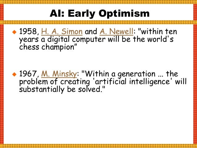  1997: IBM's Deep Blue beats Kasparov. AI Breakthroughs, I