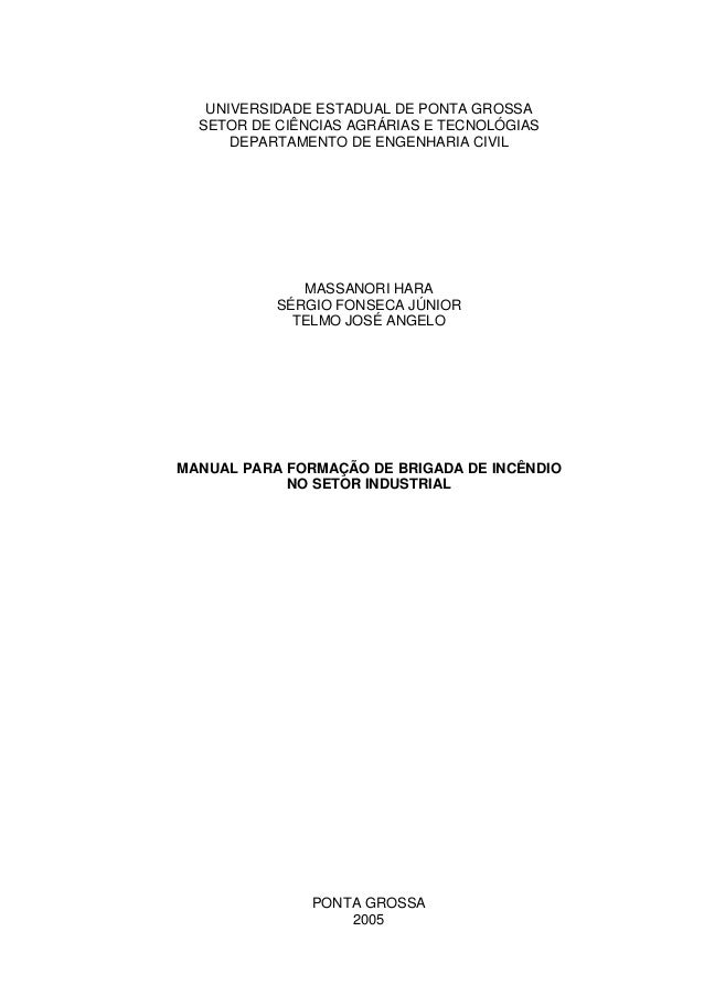 UNIVERSIDADE ESTADUAL DE PONTA GROSSA SETOR DE CIÊNCIAS AGRÁRIAS E TECNOLÓGIAS DEPARTAMENTO DE ENGENHARIA CIVIL MASSANORI ...