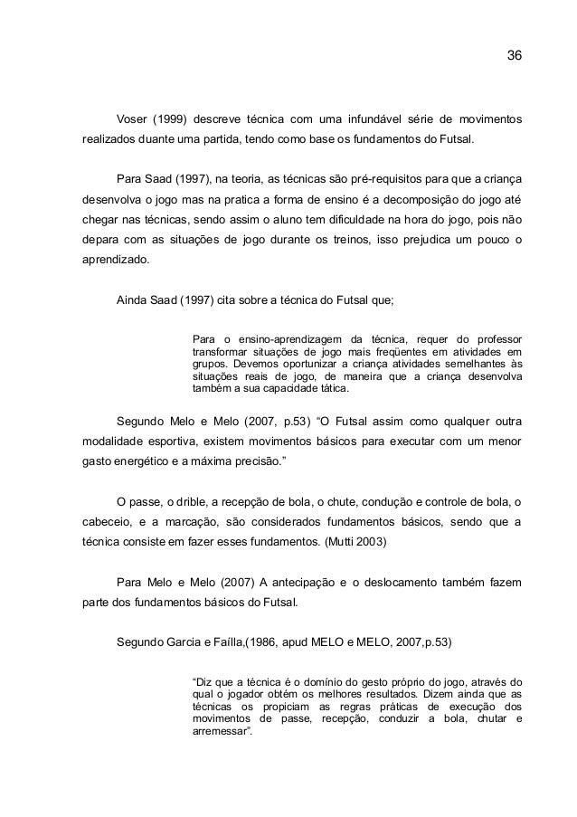 7cdcaa563a O Papel do Profissional de Educação Física na iniciação ao Futsal