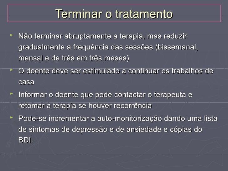 TERAPIA COGNITIVO-COMPORTAMENTAL DA DEPRESSÃO