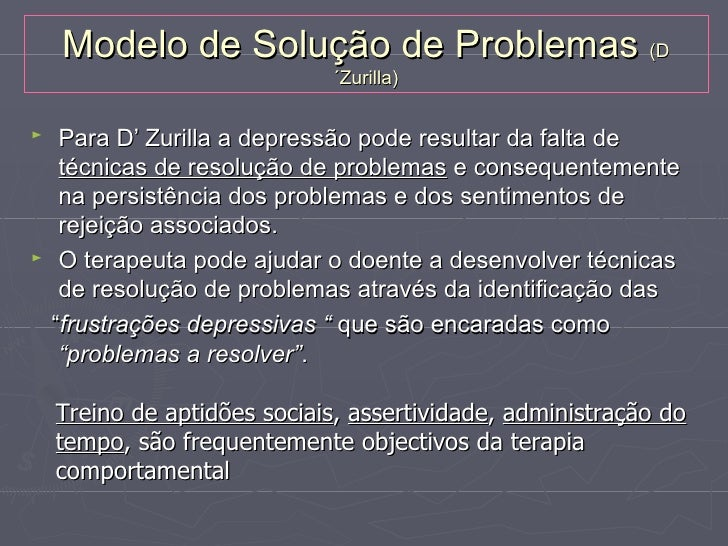Depressão: variáveis comportamentais         Défice                       Excesso                           RelaçãoAptidõe...