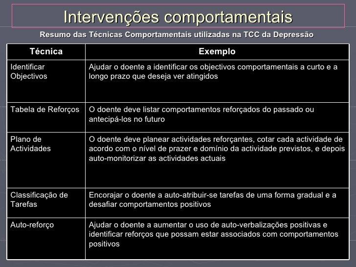Intervenções cognitivas