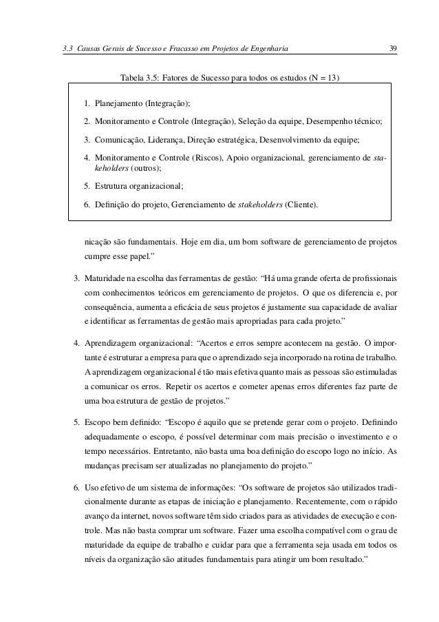d563c4b4e Fatores de Sucesso e Fracasso no Gerenciamento de Projetos de Engenha…
