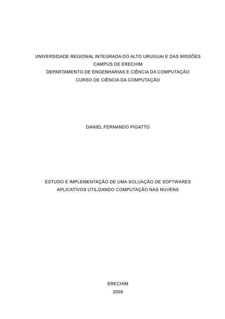UNIVERSIDADE REGIONAL INTEGRADA DO ALTO URUGUAI E DAS MISSÕES                      CAMPUS DE ERECHIM     DEPARTAMENTO DE E...