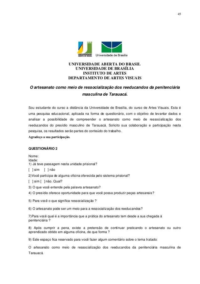 45                          UNIVERSIDADE ABERTA DO BRASIL                             UNIVERSIDADE DE BRASÍLIA            ...