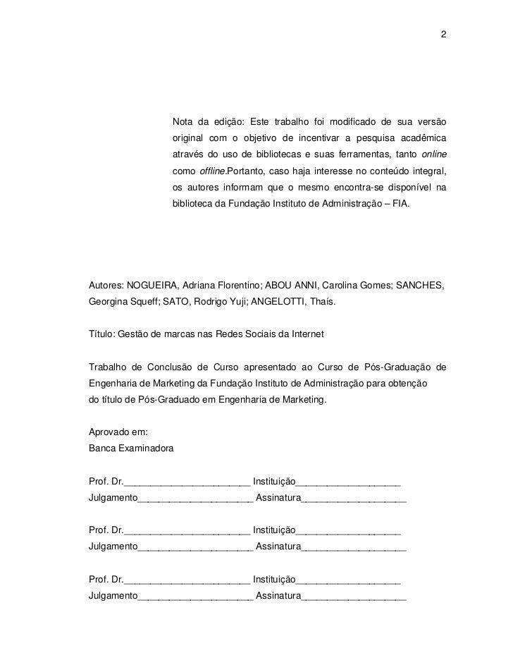 tcc fia final midiassociais052 Modelo De Trabalho De Conclusao De Curso #6