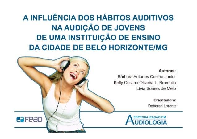 INTRODUÇÃOAs lesões auditivas induzidas por níveis elevados depressão sonora são um importante problema de saúdepública e ...