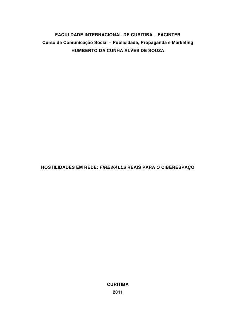 FACULDADE INTERNACIONAL DE CURITIBA – FACINTERCurso de Comunicação Social – Publicidade, Propaganda e Marketing           ...
