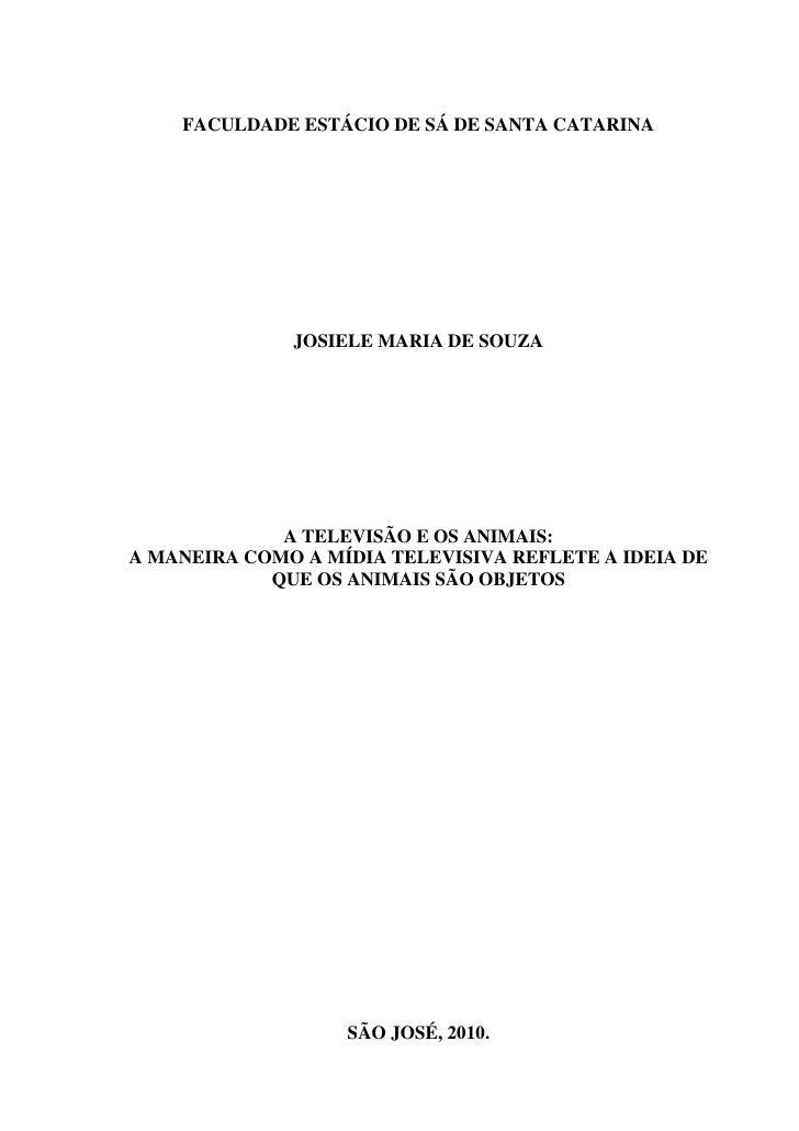 TCC em Jornalismo - Josiele Souza