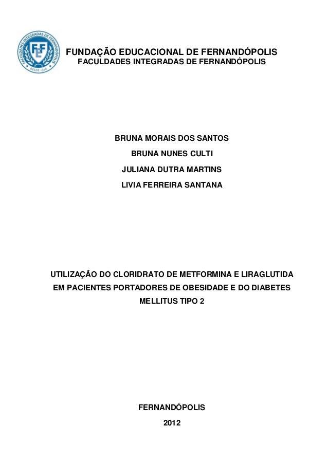 FUNDAÇÃO EDUCACIONAL DE FERNANDÓPOLIS     FACULDADES INTEGRADAS DE FERNANDÓPOLIS             BRUNA MORAIS DOS SANTOS      ...