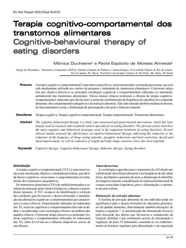 SIII 49 Rev Bras Psiquiatr 2002;24(Supl III):49-53 TTTTTerapia cognitivoerapia cognitivoerapia cognitivoerapia cognitivoer...