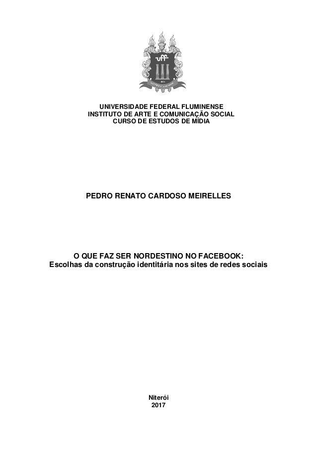 UNIVERSIDADE FEDERAL FLUMINENSE INSTITUTO DE ARTE E COMUNICAÇÃO SOCIAL CURSO DE ESTUDOS DE MÍDIA PEDRO RENATO CARDOSO MEIR...