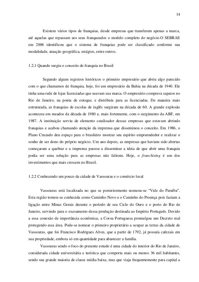 INVESTIMENTO EM FRANQUIAS EM PEQUENAS CIDADES