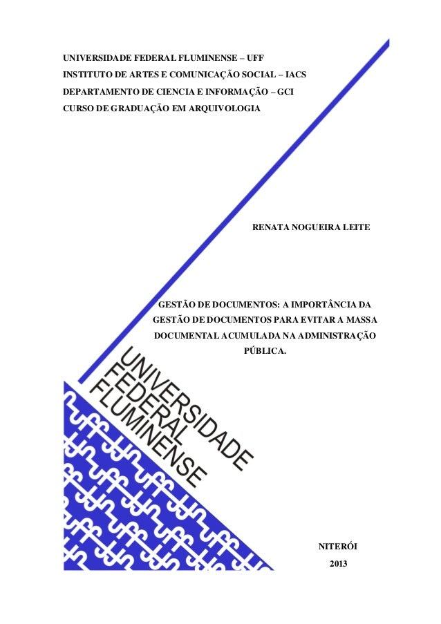 UNIVERSIDADE FEDERAL FLUMINENSE – UFF INSTITUTO DE ARTES E COMUNICAÇÃO SOCIAL – IACS DEPARTAMENTO DE CIENCIA E INFORMAÇÃO ...