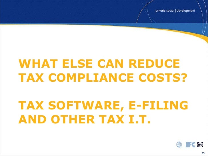 Tax compliance costs: A review of cost burdens and cost structures