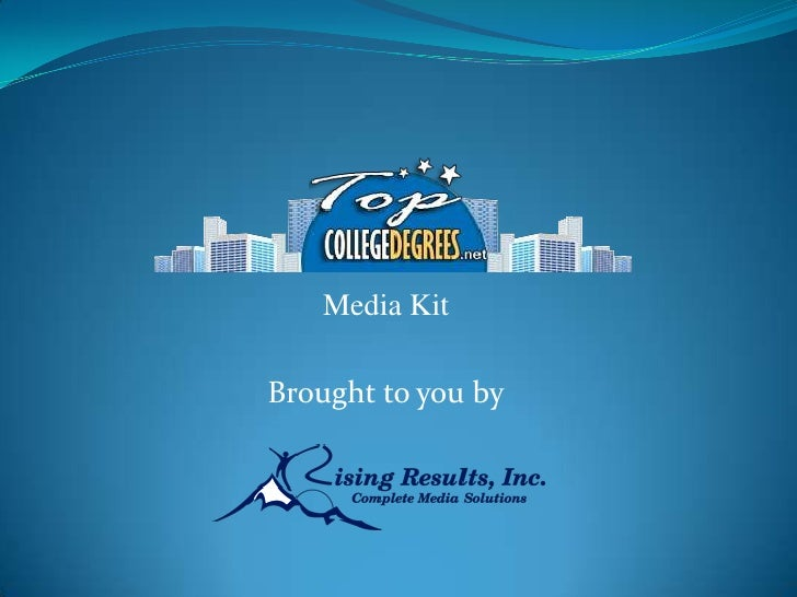 Media KitBrought to you by