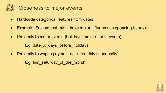 ● Differences between dates might be relevant ● Examples: ○ user_interaction_date - published_doc_date To model how recent...