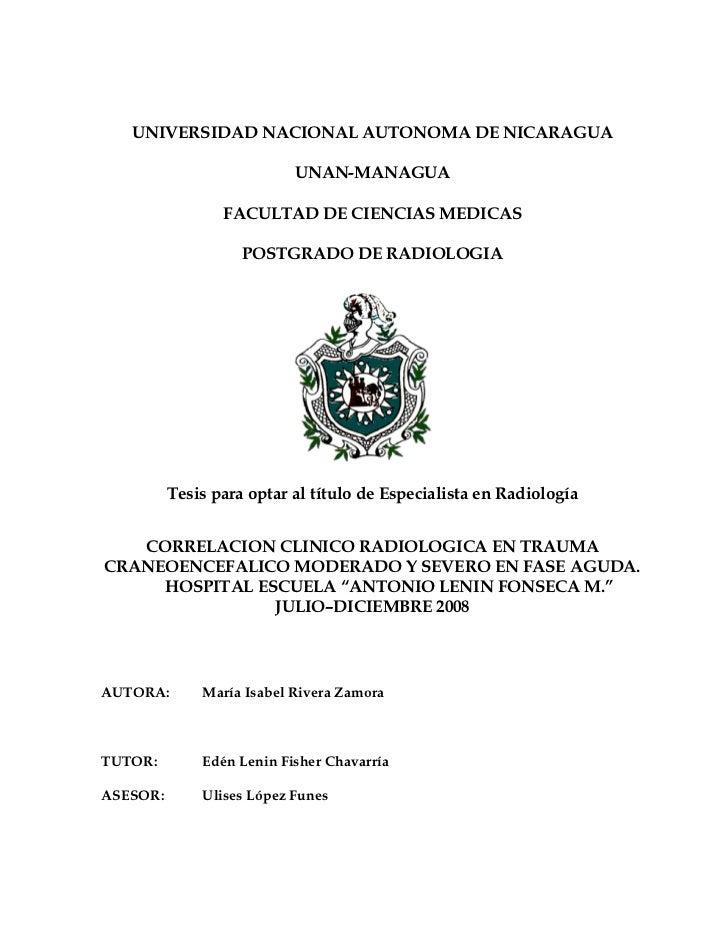 UNIVERSIDAD NACIONAL AUTONOMA DE NICARAGUA                             UNAN-MANAGUA                   FACULTAD DE CIENCIAS...