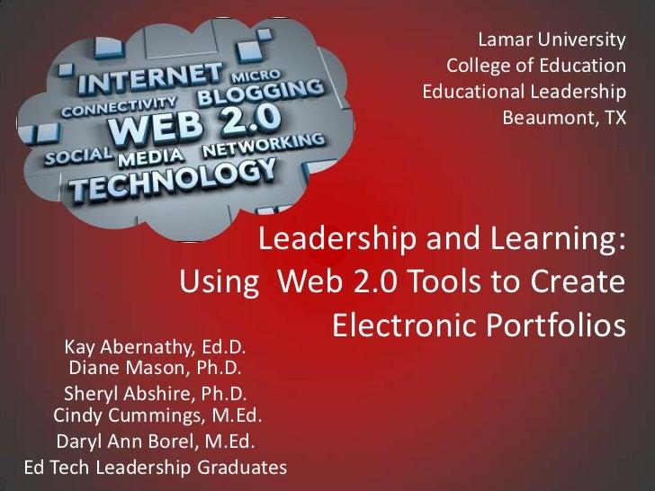 Lamar University                                   College of Education                                 Educational Leader...