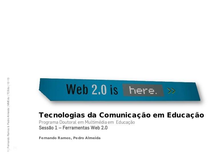 1 | Fernando Ramos & Pedro Almeida | MMEdu | TCEdu | 12-13                                                                ...