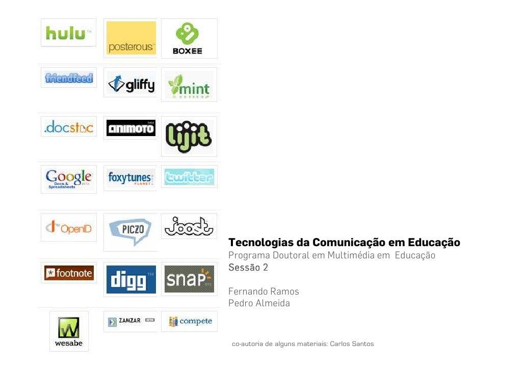 Tecnologias da Comunicação em Educação p2