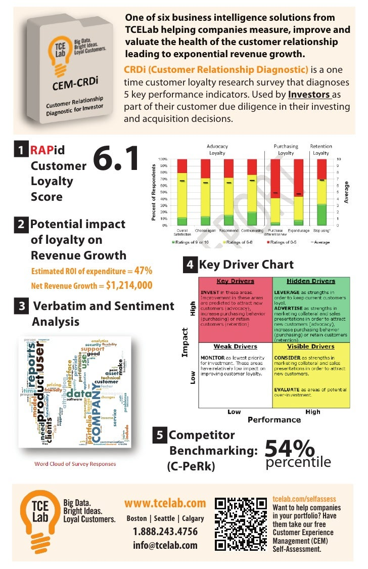 One of six business intelligence solutions from                            TCELab helping companies measure, improve and  ...