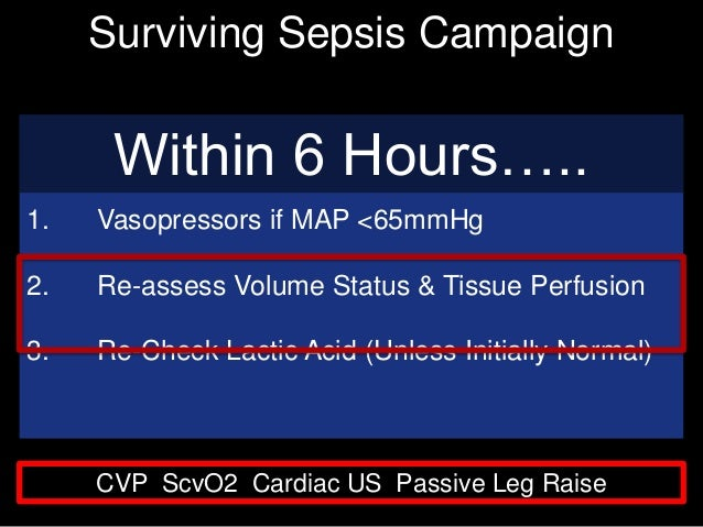 sepsis 2016 guidelines within 3 hours