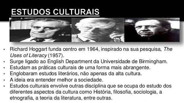 • Richard Hoggart funda centro em 1964, inspirado na sua pesquisa, The Uses of Literacy (1957). • Surge ligado ao English ...