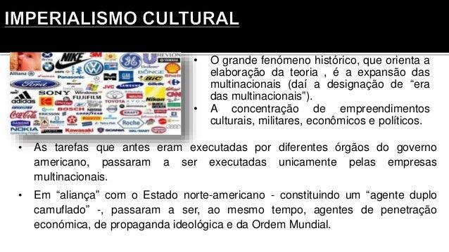 """• O grande fenómeno histórico, que orienta a elaboração da teoria , é a expansão das multinacionais (daí a designação de """"..."""