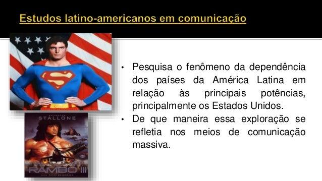 • Pesquisa o fenômeno da dependência dos países da América Latina em relação às principais potências, principalmente os Es...