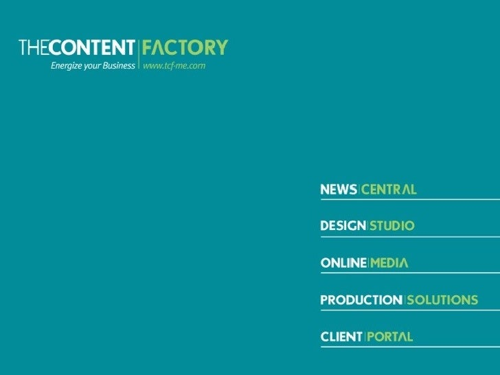 THECONTENT|FACTORY | Who we areWho are we?An energetic multilingual team of 11.Our expertise lies in:Public relations, con...