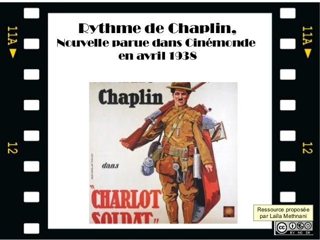 Transformer une tâche simple en tâche complexe Rythme de Chaplin, Nouvelle parue dans Cinémonde en avril 1938 Ressource pr...