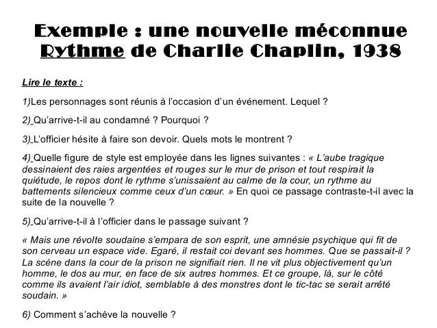 lire rythme une nouvelle de chaplin. Black Bedroom Furniture Sets. Home Design Ideas