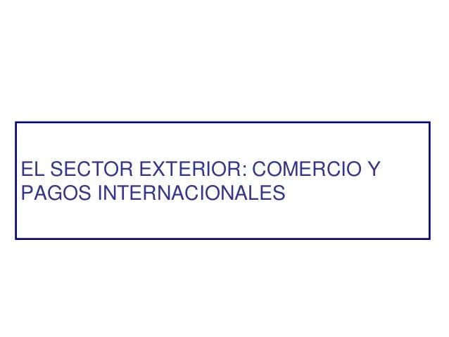 EL SECTOR EXTERIOR: COMERCIO Y PAGOS INTERNACIONALES