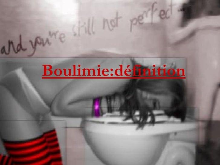 Boulimie:définition
