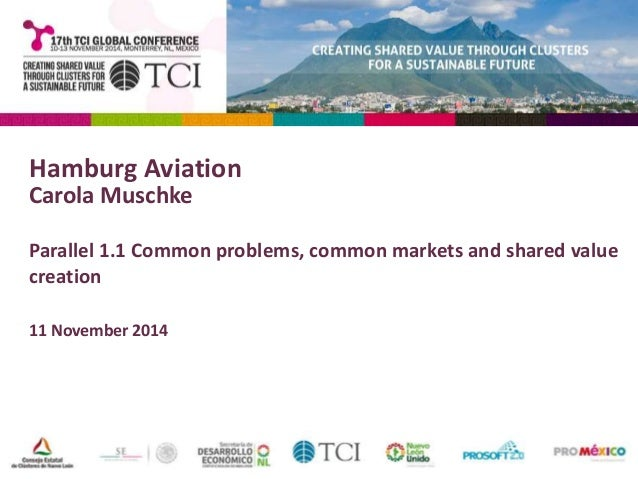 Hamburg Aviation  Carola Muschke  Parallel 1.1 Common problems, common markets and shared value  creation  11 November 201...