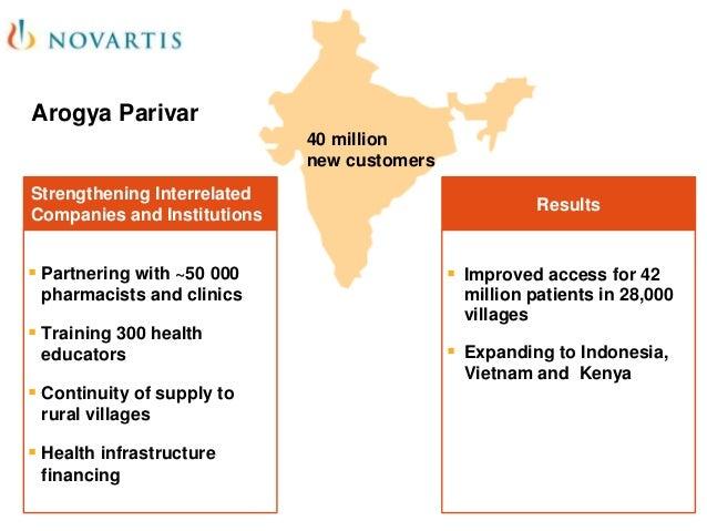 "arogya parivar Novartis created arogya parivar (""healthy family"" in hindi) to increase access to  healthcare in underserved communities in india arogya."
